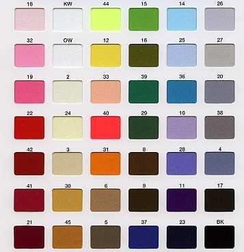 カラースエード 42色